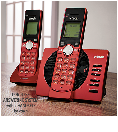 Landline Phones, featuring Cordless answering system with w2 handsets