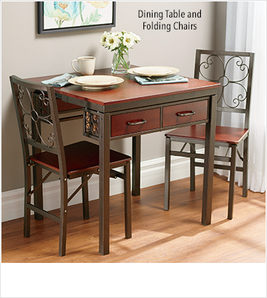 Dining Tables & Dining Sets, featuring Dining Table and Folding Chairs