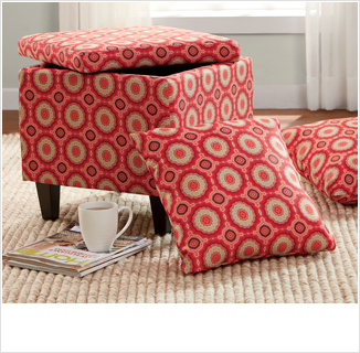 Shop Ottomans, featuring Ottoman with pillows