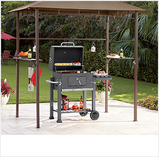 SHOP GRILLING, featuring grilling gazebo