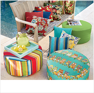 SHOP OUTDOOR, featuring outdoor cushions