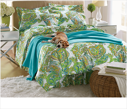 SHOP BEDDING, featuring Bright Paisley Complete bed set