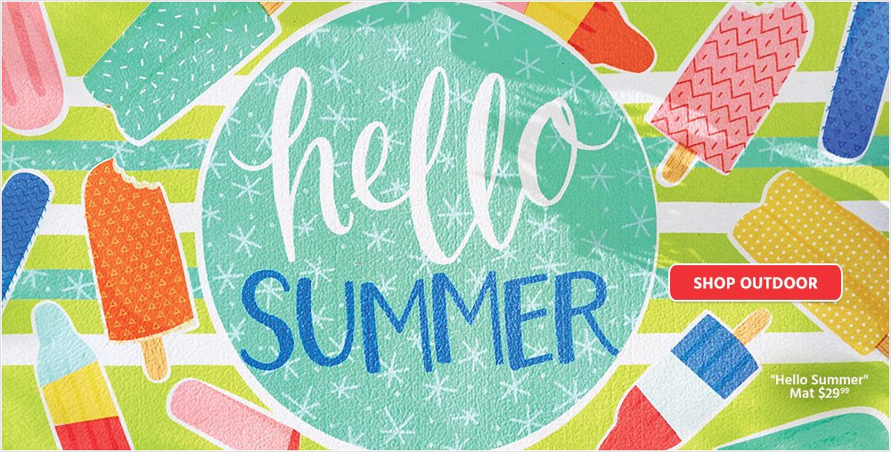 Hello Summer Mat $29.99 - Shop Outdoor