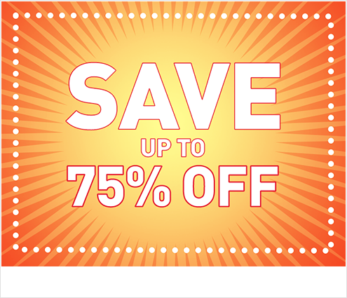 Shop Sale, featuring save up to 75 off