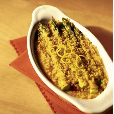 Three Cheese Asparagus Gratin With Wisconsin Gouda, Muenster And Asiago