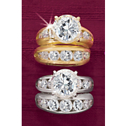 Round Channel Bridal Set