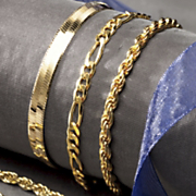 14k Gold Over Sterling Silver Bracelets
