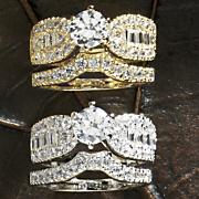 round winged bridal set