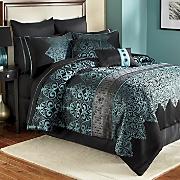 Kismet Woven Jacquard 10-Piece Bed Set, Pillows & Window Treatments