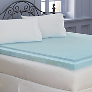 2.5 Inch Sleep Connection Viscose Memory Foam Topper with Smooth Cooling Gel by Montgomery Ward