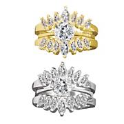 Round/Marquise Double Bridal Set