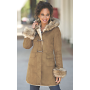 faux suede toggle jacket