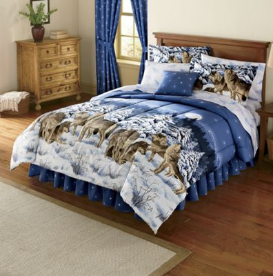 Wildcats or Wolves Complete Bed Set, Decorative Pillow and Window Treatments