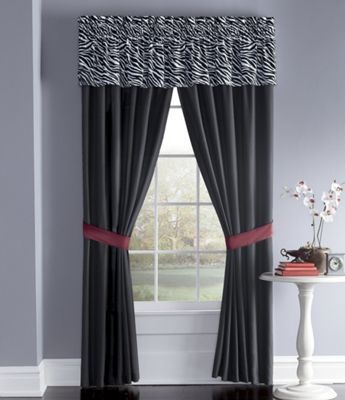 Faux Fur Valance and Panel Pair