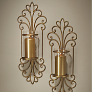 monte cristo golden glass sconces
