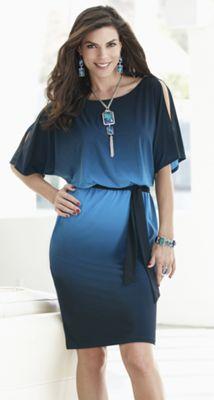 City Night Dip-Dye Dress