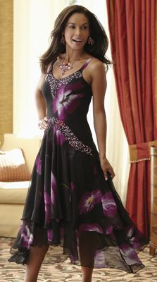 Midnight Orchid Dress