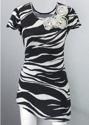 Zebra Flower Tunic