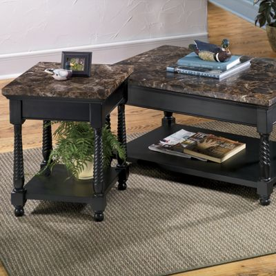 Black Faux Marble Coffee Table