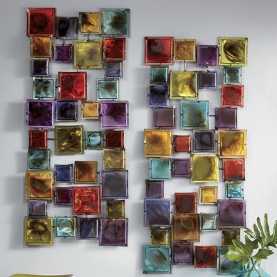 Set of 2 hip squares wall art from ginny 39 s 700455 for Hip home decor