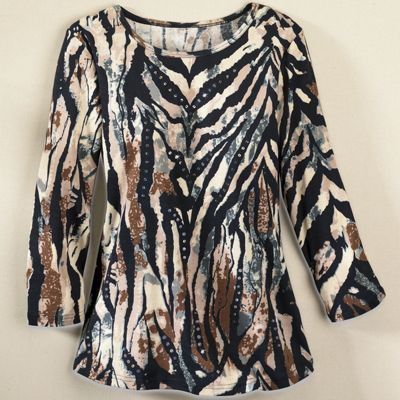 Sequin Zebra Top