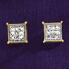 Diamond Square-Cluster Post Earrings