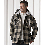 Fleece-lined Hooded Shirt Jacket