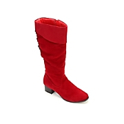 Red Cuff Boot By Classique