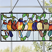 Stained Glass Bird Hanging