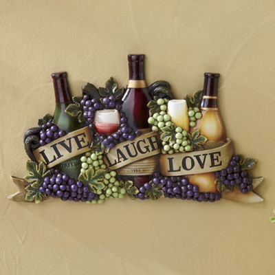 Live Laugh Love Wine Wall Art