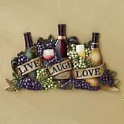 Live Laugh Love Wine Wall Art