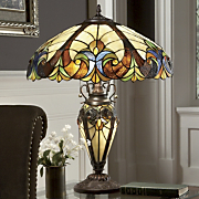 Table lamps stained glass accent lighting seventh avenue stained glass halston lamp aloadofball Image collections