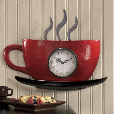 Cuppa Joe Wall Clock From Seventh Avenue Df701564