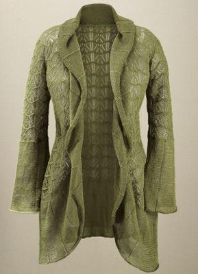 Pointelle Crochet Sweater