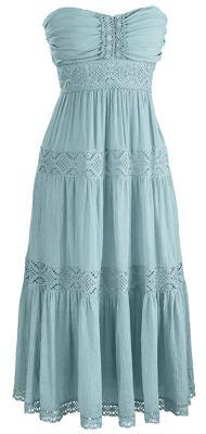 Beryl Strapless Crochet-trim Dress