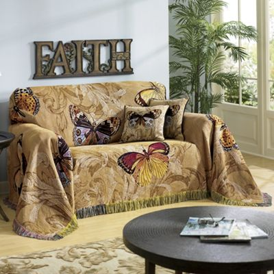 Butterfly Tapestry Furniture Throw