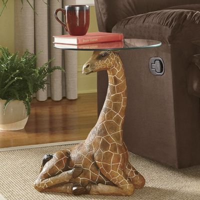 Serengeti Giraffe Accent Table