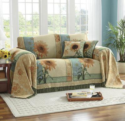 Garden Sunflower Furniture Throw