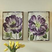Set of 2 Purple Petals Prints