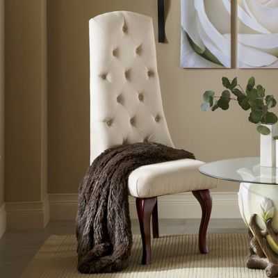 High-Back Tufted Chair