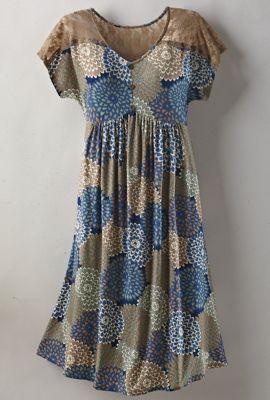 Georgia Lace-Shoulder Dress