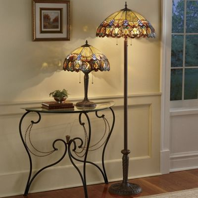 Haverhill Stained Glass Floor and Table Lamp