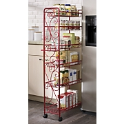 scrolled rolling pantry
