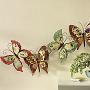 layered butterfly wall art