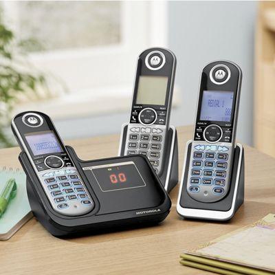 Motorola DECT 6.0 2- or 3-Handset Cordless Phone System