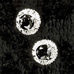 Black Diamond Post Earrings