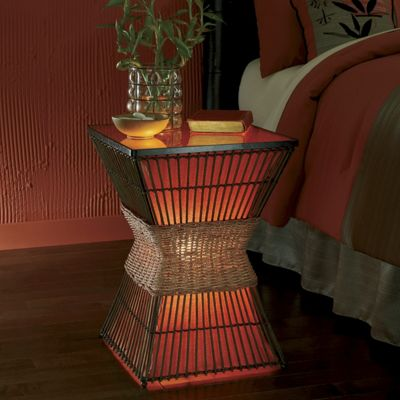 Palisade Cane Lighted Table