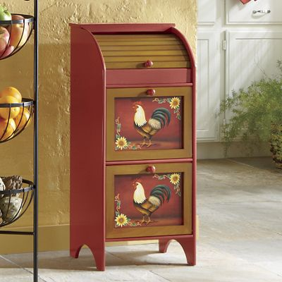 Red Rooster Veggie Bin From Ginny S J8704936