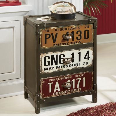 License Plate Cabinet From Seventh Avenue 704942