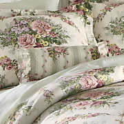 cottage rose comforter set window treatments and pillow